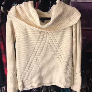 Ann Taylor Cream Cowl Neck sweater